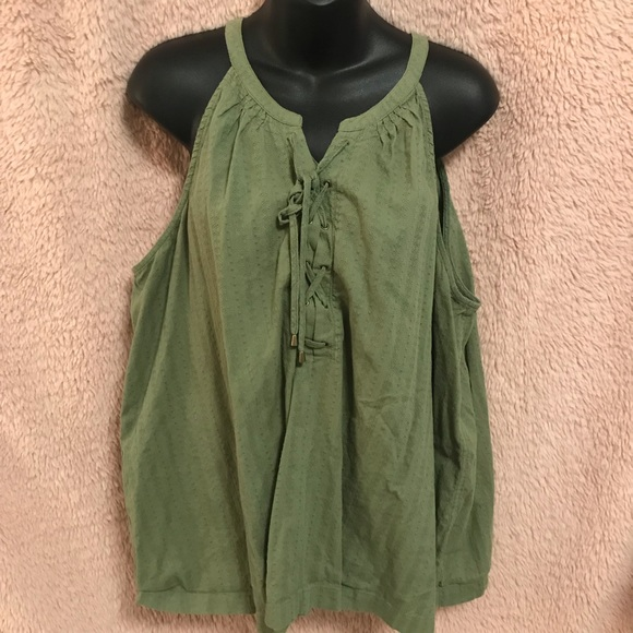 Faded Glory Tops - Olive green tank/cami